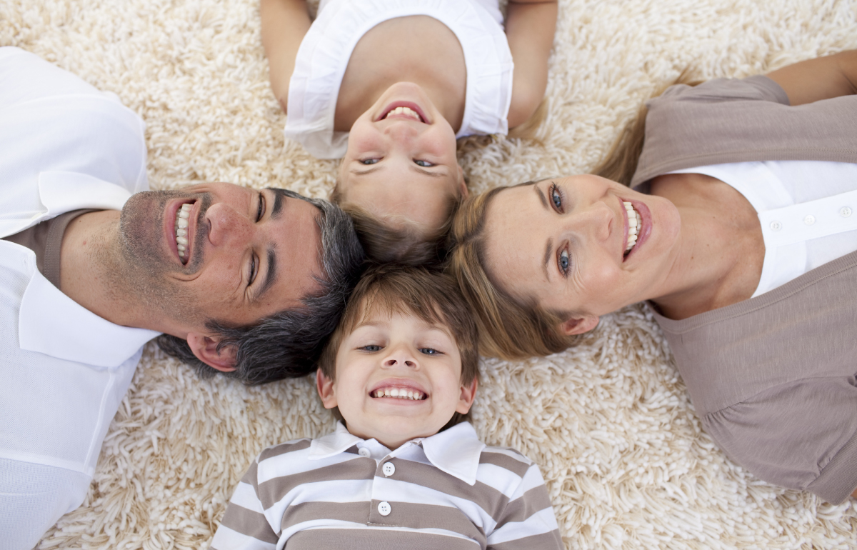 Laying on Floor with Family